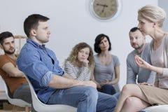 Группа консультируя встреча Стоковая Фотография