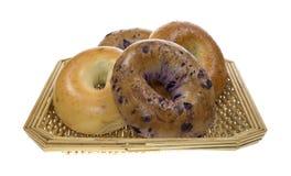 группа корзины bagels Стоковые Фото