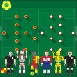 Группа кубка мира кулачок против Cro иллюстрация вектора