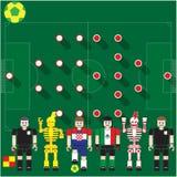 Группа кубка мира Cro против Mex Стоковое Изображение