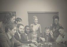 Группа людей в казино стоковая фотография rf
