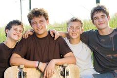 группа мальчиков Стоковая Фотография