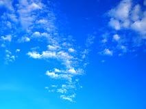 Группа облака формы орла белая в голубом небе Стоковые Фото