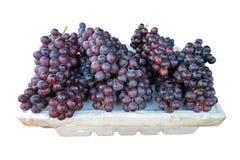 Группа плодоовощ виноградины зрелая на подносе пены Стоковые Изображения