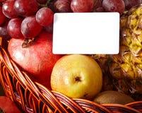 группа плодоовощ корзины знамени Стоковая Фотография RF