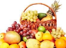 группа плодоовощ цвета корзины Стоковые Изображения RF