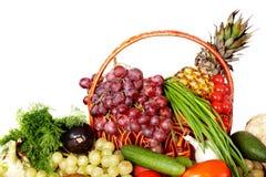 группа плодоовощ цвета корзины Стоковая Фотография