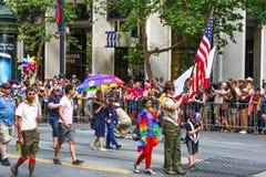 Группа разведчика мальчика гей-парада Сан-Франциско Стоковое Фото