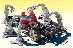 Группа роботов иллюстрация штока