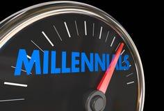 Группа спидометра Millennials молодая демографическая Стоковое Фото