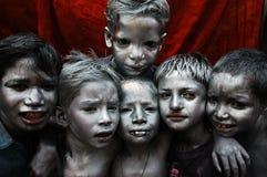 группа стороны цвета мальчика смазала стоковая фотография rf