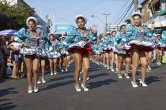 Группа танца Caporales - Arica, Чили стоковое фото rf