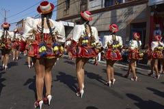Группа танца Caporales - Arica, Чили Стоковая Фотография RF