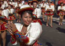 Группа танца Caporales - Arica, Чили Стоковые Изображения RF