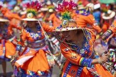 Группа танца Tinku - Arica, Чили стоковое фото rf