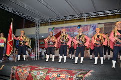 Группа Турции выполняет пункт на этапе Стоковые Фото