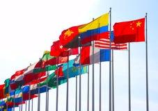 группа флагов Стоковое Фото