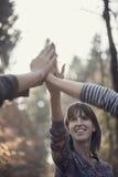 Группа людей давая жест fives максимума Стоковые Фотографии RF