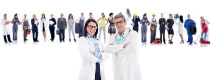 Группа людей в докторах фронта 2 стоковая фотография