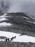 Trekking на горе Стоковое Изображение RF