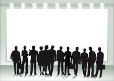 Группа людей перед холстом Стоковая Фотография RF