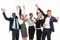 Группа людей. Руки вверх стоковое фото rf