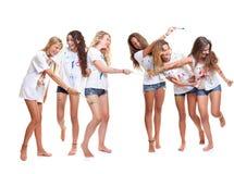 Группа ягнится картина стоковая фотография rf