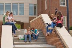 группа девушок коллежа Стоковое Изображение