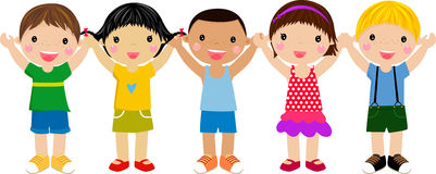 группа детей Стоковая Фотография