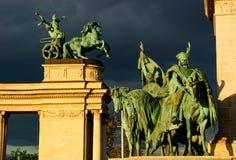 Группа budapest статуи Стоковая Фотография RF