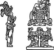 группа c майяская Стоковые Фотографии RF