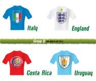 Группа d кубка мира 2014 ФИФА Стоковая Фотография