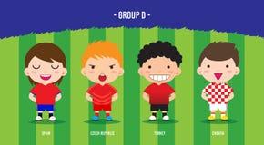 Группа d футбола ЕВРО иллюстрация вектора