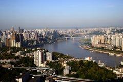 Группа f, Река Янцзы в Чунцине Стоковые Изображения RF