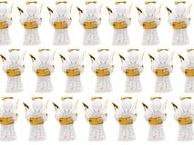 группа figurine рождества ангелов Стоковые Изображения RF