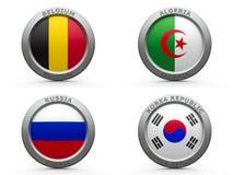 Группа h кубка мира 2014 Бразилии Стоковые Фотографии RF