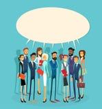 Группы болтовни бизнесмены пузыря связи Стоковые Изображения