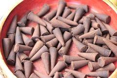 Группы конусов ладана ароматичные коричневые Стоковые Изображения RF