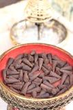 Группы конусов ладана ароматичные коричневые Стоковые Изображения