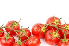 2 группы малых красных томатов Стоковые Фото