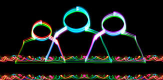 группы связи электронные Стоковое Изображение
