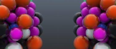 2 группы цифров произведенных пузырей Стоковые Фотографии RF