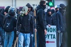 Группы члена левой партии и анархиста ища упразднение новых максимальных тюрем безопасностью стоковое фото