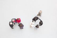 2 группы людей стоять, расплывчатый Стоковое фото RF