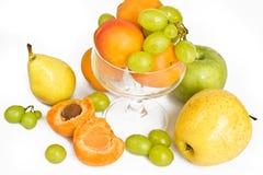 груша зеленого цвета виноградины абрикосов зрелая Стоковое Фото