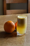 Груша и апельсиновый сок Стоковое Фото