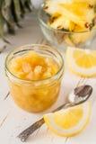 Груша и варенье и ингридиенты лимона Стоковые Фотографии RF