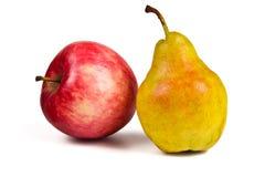 Груша и яблоко Стоковое Изображение RF