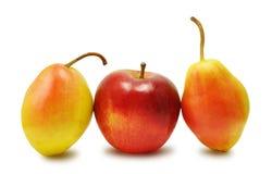 Груши и яблоко Стоковые Изображения RF