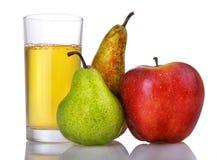 груши сока яблока свежие Стоковые Изображения RF